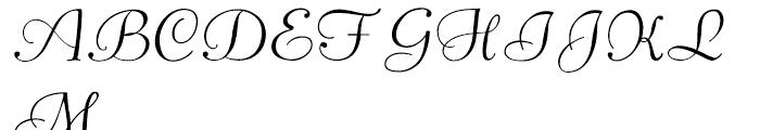 Pompeian Cursive Font UPPERCASE