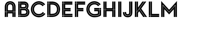 Pontiac Inline Regular Font LOWERCASE