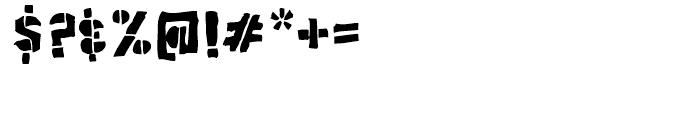 Poozer Regular Font OTHER CHARS