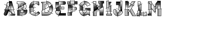 Pop Cubism Shaded Font UPPERCASE