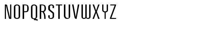 Post Industrial Light Font UPPERCASE
