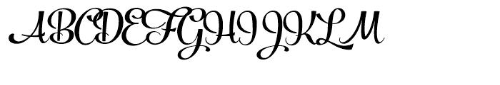 Powder Script Black Font UPPERCASE
