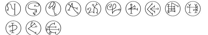 Powers Of Marduk Symbols Font UPPERCASE