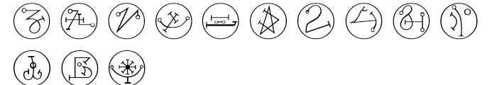 Powers Of Marduk Symbols Font LOWERCASE