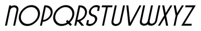 Pocatello JNL Oblique Font UPPERCASE