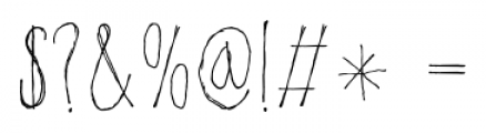 Poison Ivy Regular Font OTHER CHARS