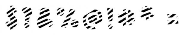 Polina Front2 Striped Regular Font OTHER CHARS