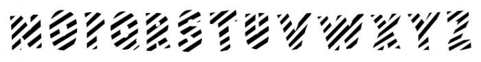 Polina Front2 Striped Regular Font UPPERCASE
