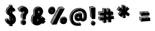 Polina Striped Regular Font OTHER CHARS