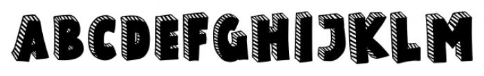 Polina Striped Regular Font UPPERCASE