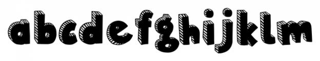 Polina Striped Regular Font LOWERCASE
