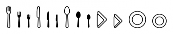 Poppi Food Two Font LOWERCASE