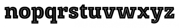 Posterizer KG Inline Regular Font LOWERCASE