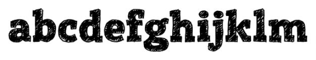 Posterizer KG Sketch Regular Font LOWERCASE