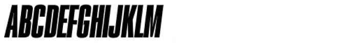 PODIUM Sharp 1.10 italic Font UPPERCASE