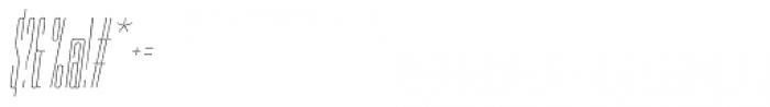 PODIUM Sharp 1.2 italic Font OTHER CHARS