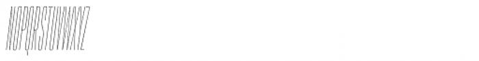 PODIUM Sharp 1.2 italic Font UPPERCASE
