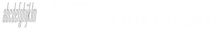 PODIUM Sharp 1.2 italic Font LOWERCASE