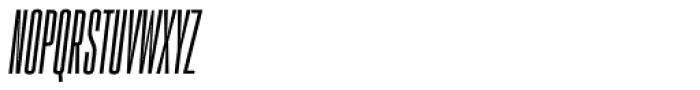 PODIUM Sharp 1.6 italic Font UPPERCASE
