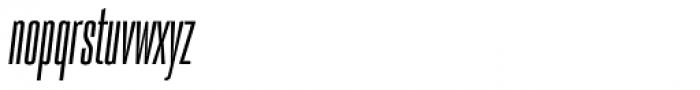 PODIUM Sharp 1.6 italic Font LOWERCASE