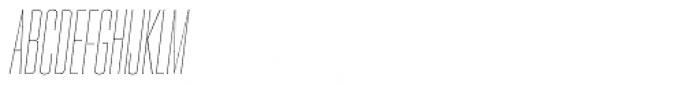 PODIUM Sharp 2.2 italic Font UPPERCASE