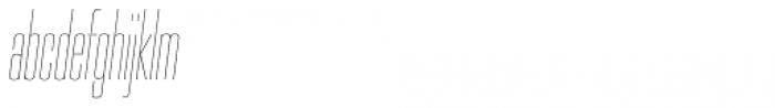 PODIUM Sharp 2.2 italic Font LOWERCASE