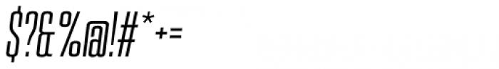 PODIUM Sharp 2.6 italic Font OTHER CHARS