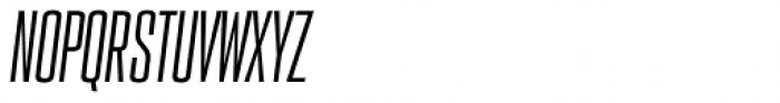 PODIUM Sharp 2.6 italic Font UPPERCASE