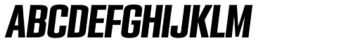 PODIUM Sharp 3.10 italic Font UPPERCASE