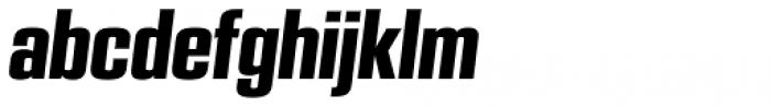 PODIUM Sharp 3.10 italic Font LOWERCASE