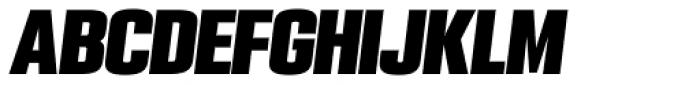 PODIUM Sharp 3.12 italic Font UPPERCASE