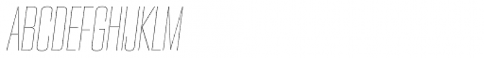 PODIUM Sharp 3.2 italic Font UPPERCASE