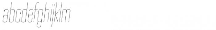 PODIUM Sharp 3.2 italic Font LOWERCASE