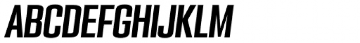 PODIUM Sharp 3.9 italic Font UPPERCASE