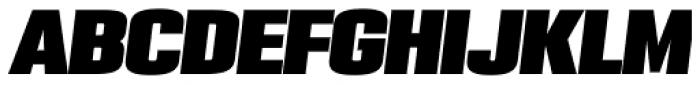 PODIUM Sharp 4.13 italic Font UPPERCASE