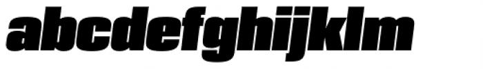 PODIUM Sharp 4.13 italic Font LOWERCASE