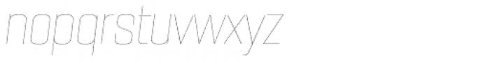 PODIUM Sharp 5.1 italic Font LOWERCASE