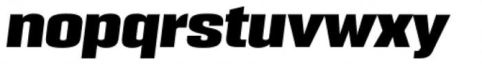 PODIUM Sharp 5.11 italic Font LOWERCASE