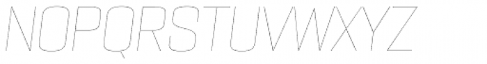 PODIUM Sharp 6.1 italic Font UPPERCASE