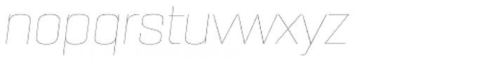 PODIUM Sharp 6.1 italic Font LOWERCASE