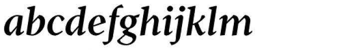 Pobla Demi Bold Italic Font LOWERCASE