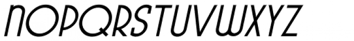 Pocatello Oblique JNL Font UPPERCASE