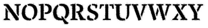 Pochoir Sprayed Font UPPERCASE