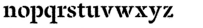 Pochoir Sprayed Font LOWERCASE
