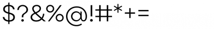 Point Light Font OTHER CHARS