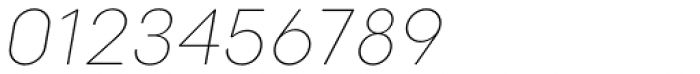 Point Thin Italic Font OTHER CHARS