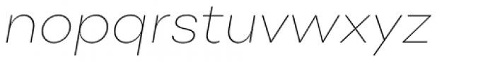 Point Thin Italic Font LOWERCASE