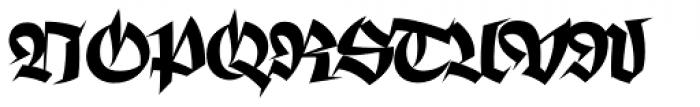 Pointyhead Plain Font UPPERCASE