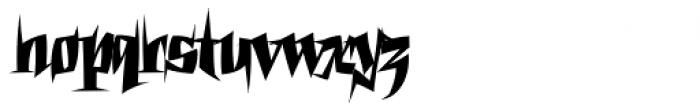 Pointyhead Plain Font LOWERCASE