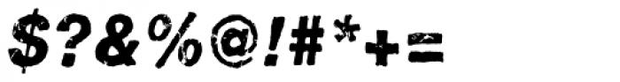 Pokrak Heavy Italic Font OTHER CHARS